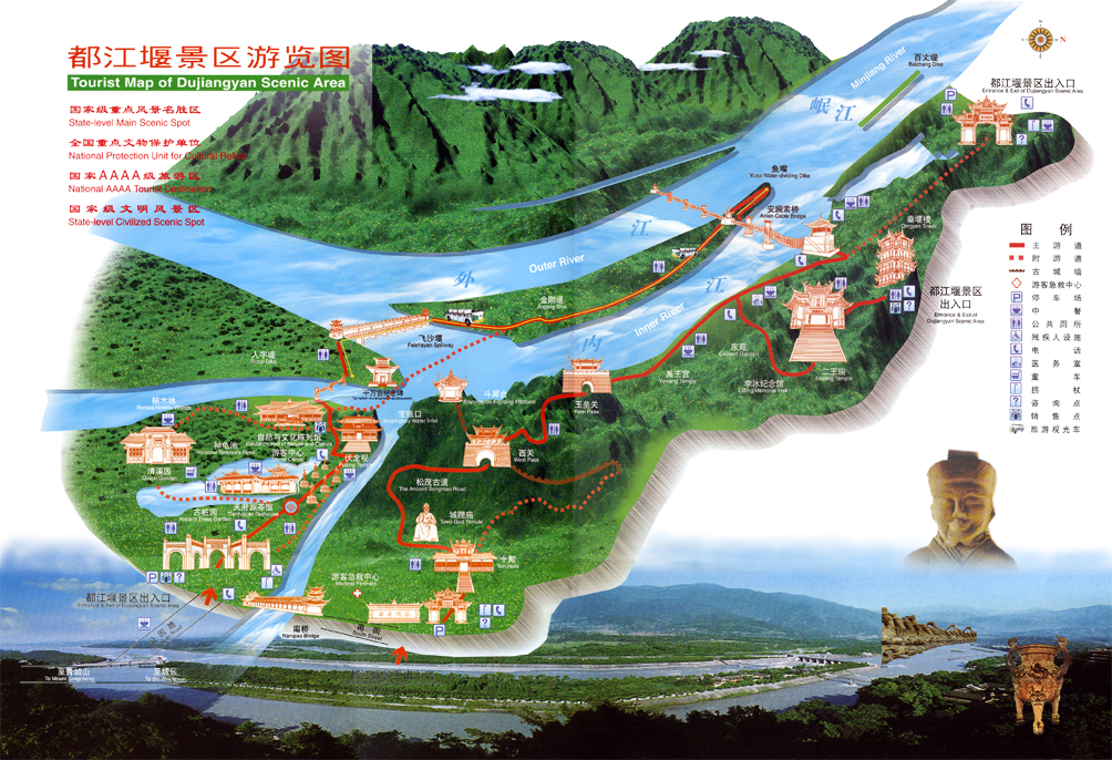 Dujiangyan-Irrigation-System-TOUR-Map104